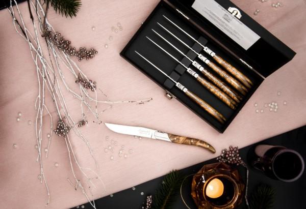 Luxury Line Steakmesser Wurzelholz