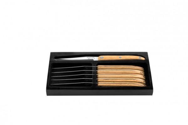 Innovation Line Steakmesser Eichenholz glatte Klinge