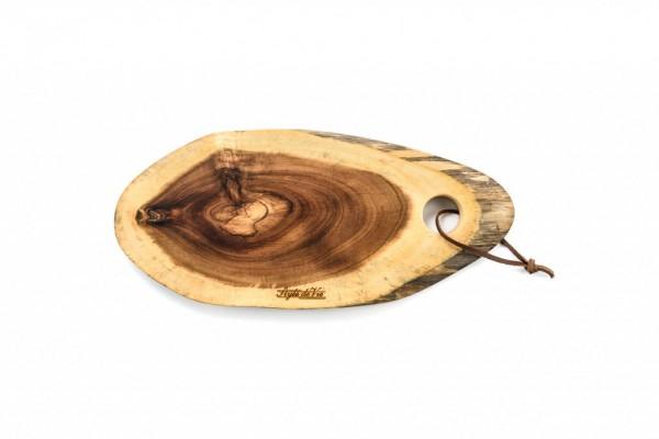 Servier- / Schneidebrett, Akazienholz, oval, Größe S, 35 x 15 cm