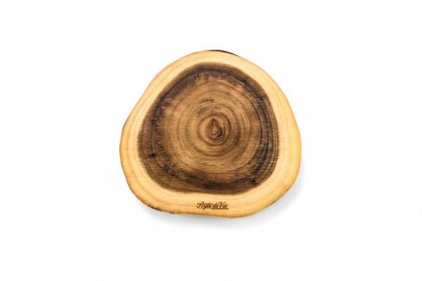Servier- / Schneidebrett aus Akazienholz Größe S, rund Durchmesser 25 cm
