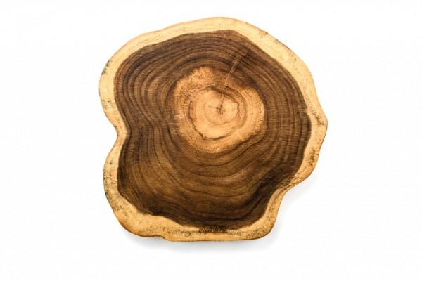 Servier- / Schneidebrett, Akazienholz, rund, Größe L, Durchmesser 34 cm